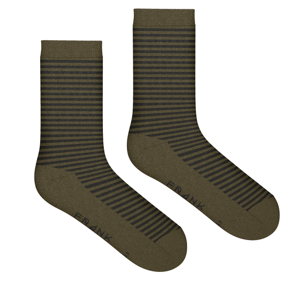 Frank dandy bamboo stripe crew sock military
