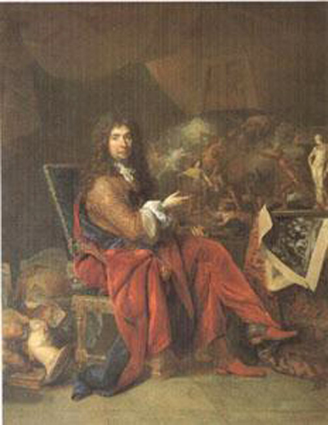 Charles Le Brun Painter to the King,Largillierre,50x40cm