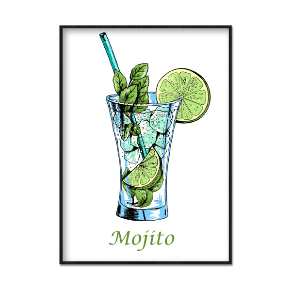 Poster A4 21x30cm Mojito Drawing