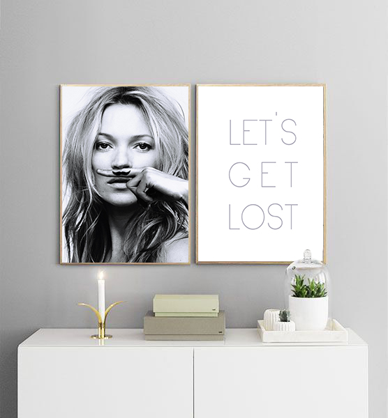 Poster Poster Poster  - Lets get lost No.1 30x40cm e267b7