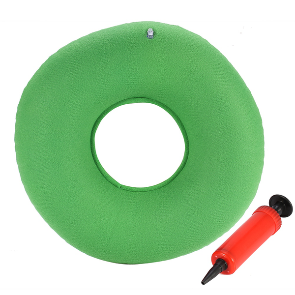 Inflatable round chair pad hip support hemorrhoid seat cushi