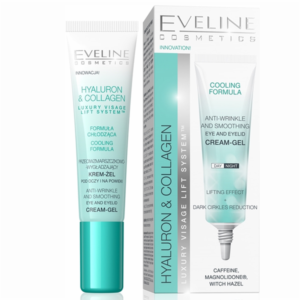 Hyaluron and collagen eye and eyelid cream-gel