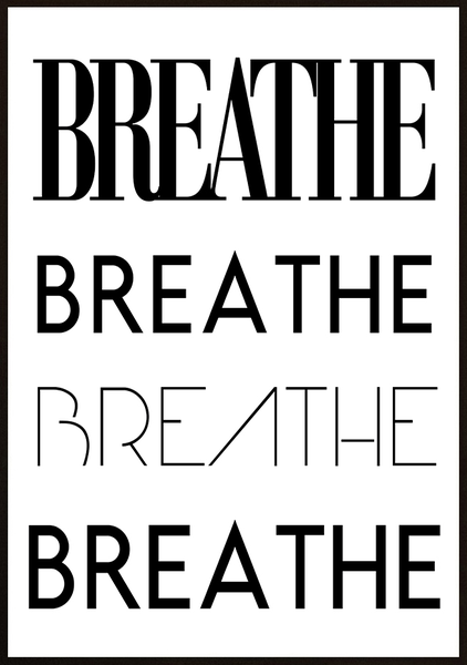 Poster - Breathe No.1 30x40cm