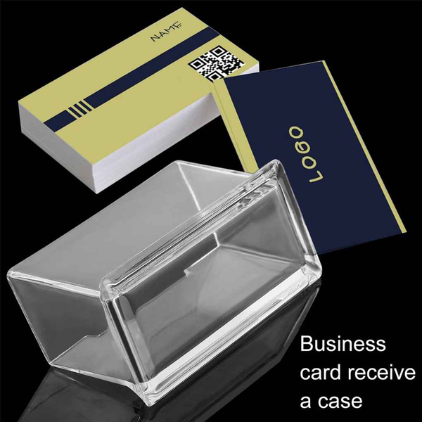 Desktop business card holder display stand acrylic plastic shelf