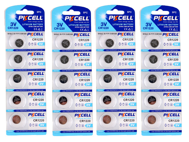 Cr1220 20-pack lithium batterier cr 1220 3v pkcell batteri