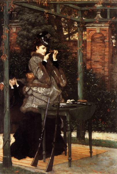 The fashionable woman in contemporary,James Tissot,60x40cm