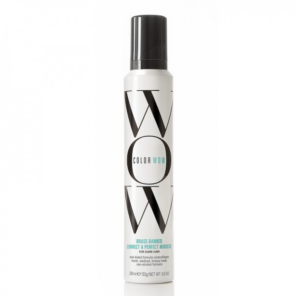 Color wow brass banned correct & perfect mousse – dark 200ml