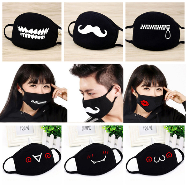 Cotton mouth mask respiratory health care cartoon printed half