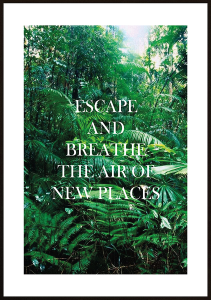 Poster - Escape and breathe No.6 40x50cm