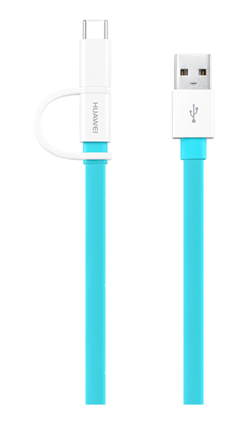 Huawei 2 i 1 data kabel usb type-a till type-c or micro-usb