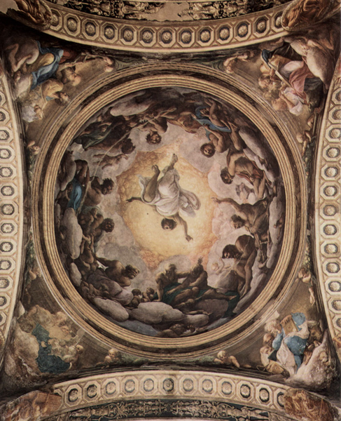 Assumption of of of the Virgin,cupola,Correggio,50x40cm 74e1e0
