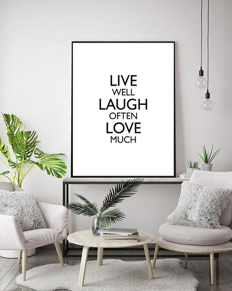 Poster - Live Well 40x50cm 40x50cm 40x50cm cffe69