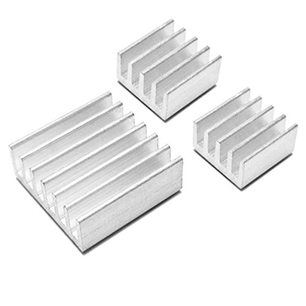 Aluminum heatsink x3pcs – protect overclocking raspberry pi 2 &
