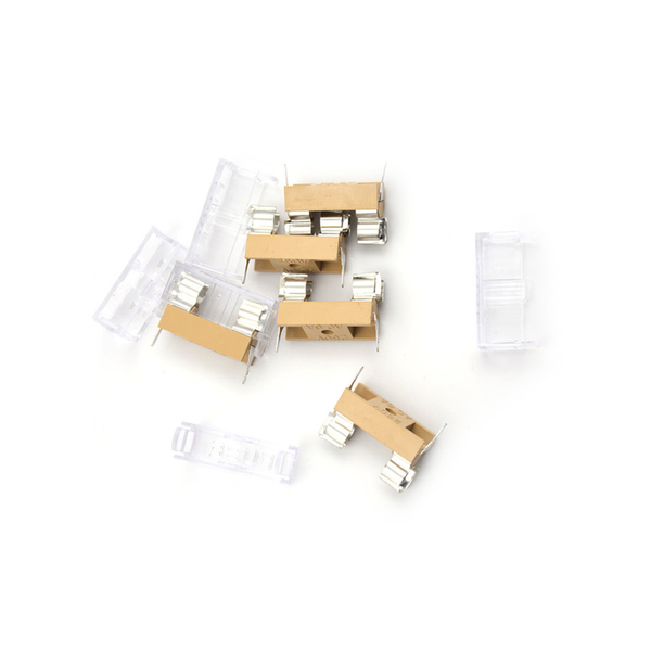 5pcs panel mount pcb fuse holder with cover for 5x20mm fuse 250v