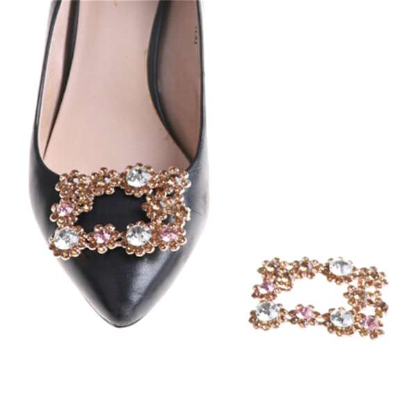 1pc alloy crystal rhinestones shoe clips women bridal prom shoes