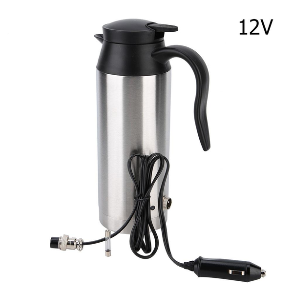800ml stainless steel car electric heated hot water kettle b
