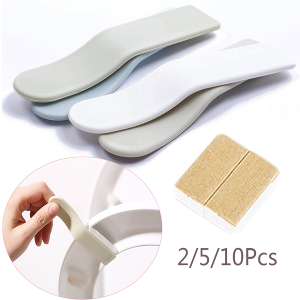 2/5/10pcs toilet seat cover lifter avoid touching handle clean