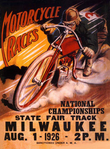 Poster Motorcycle Races 50x70cm