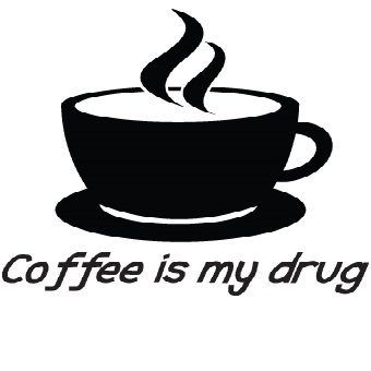 Väggdekor / Väggtext - Coffe is my drug drug drug 3e7047