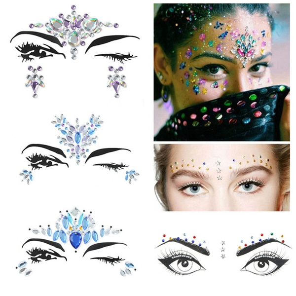 3d crystal sticker handpicked bohemia tribal style face eye