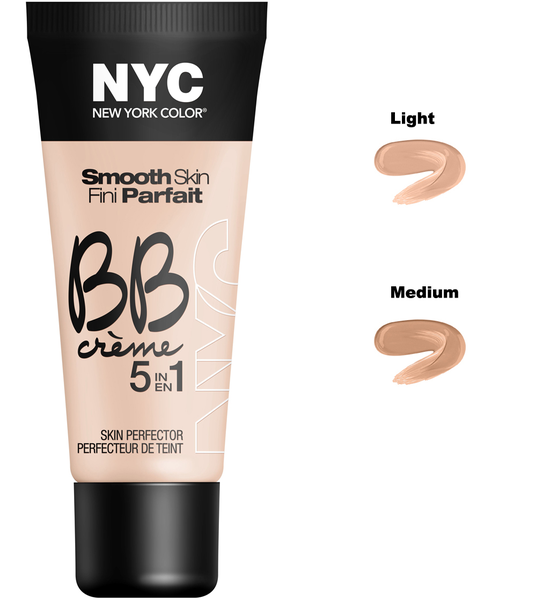 Nyc smooth skin bb crème 5 in 1 skin perfector – light