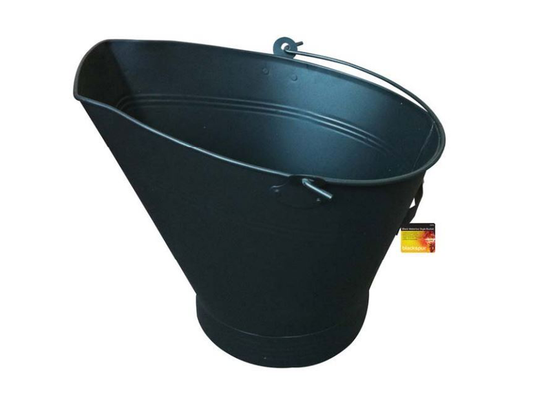 Black traditional waterloo style bucket coal scuttle