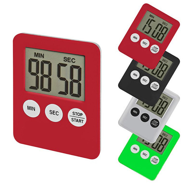 1pc lcd digital screen kitchen timer cooking count up countdown