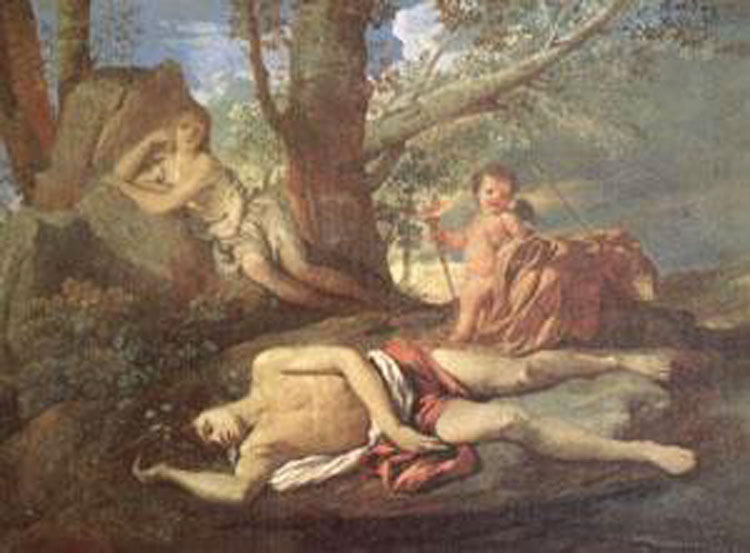 E-cho and Narcissus,Nicolas Poussin,50x40cm ny02