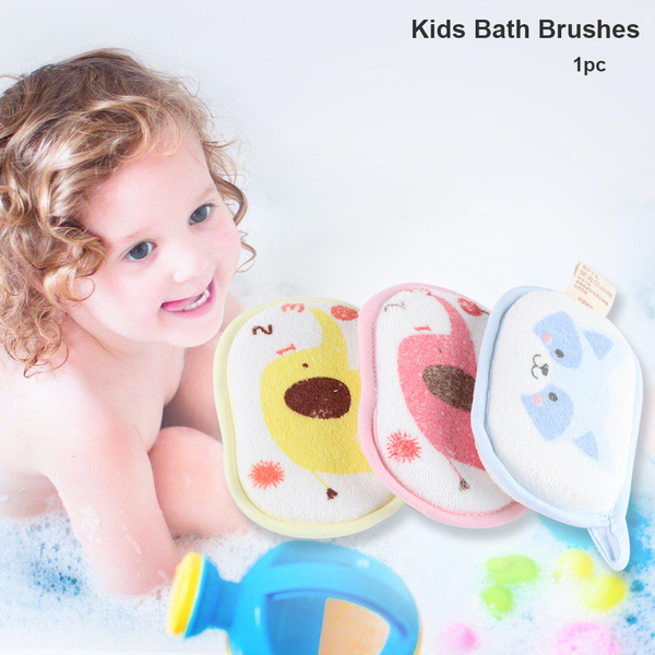 Bath sponge kids bath brushes baby shower rub infant