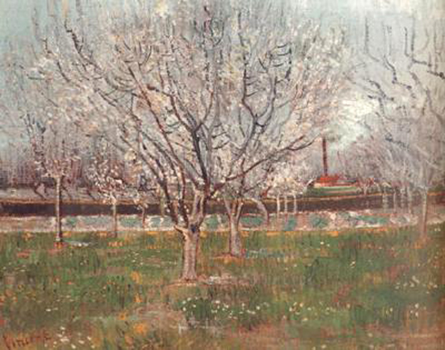 Orchard in Blossom,Vincent Van Gogh,65x81cm