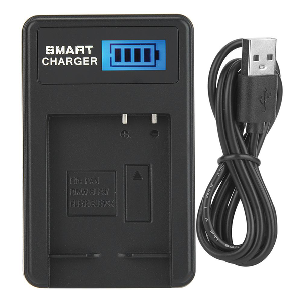 Led display dmw-ble9 battery charger single slot for lumix d