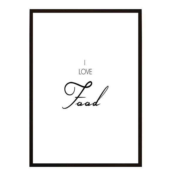 Poster - I love Food 30x40cm