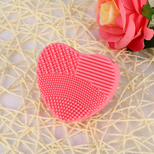 Makeup brush cleaner silicone heart finger glove make up spo