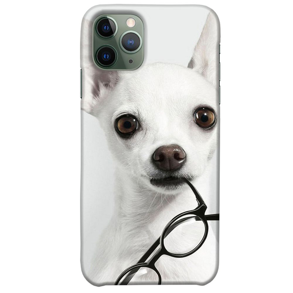 Apple iphone 11 pro max glansigt mobilskal chihuahua