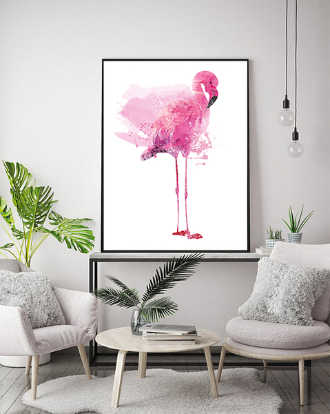 Poster - - - Flamingo Forest 50x70cm 72246f