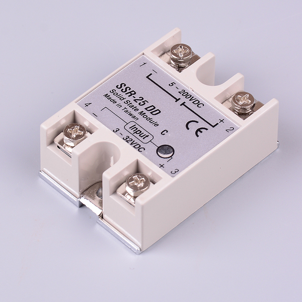 Solid state relay ssr-25dd 25a ac control dc relais 3-32vdc to 5