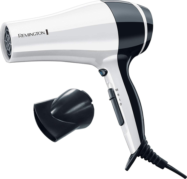 Hair dryer with ceramic ion ring
