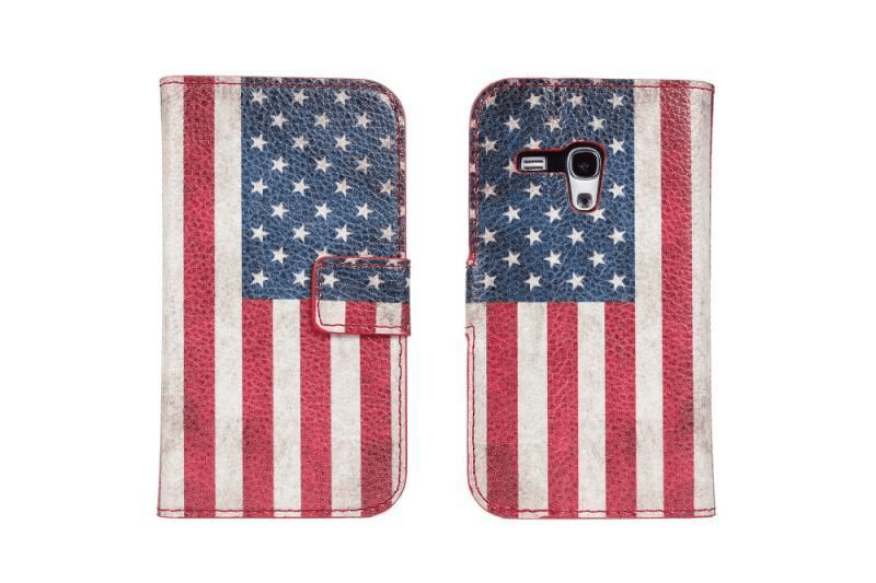 Plånboksfodral galaxy s3 mini pu-läder usa eller uk flagga