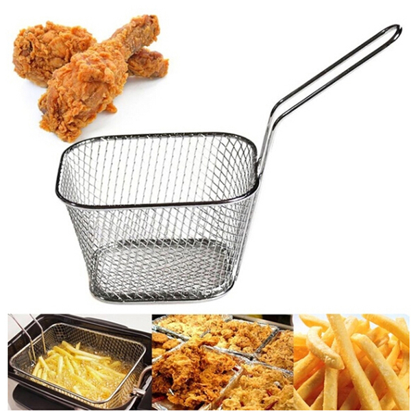 Fry basket strainer french fries basket home essential kitchen c
