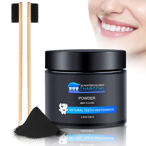 Activated charcoal powder natural teeth whitening 100% activated