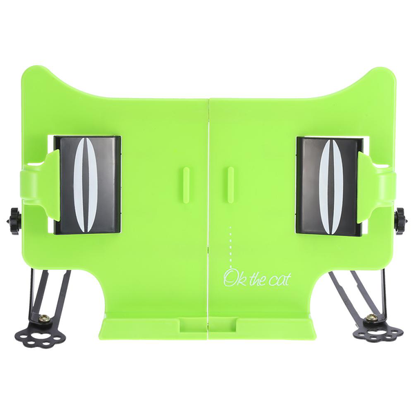 Extendable foldable book reading rack stand holder (green)