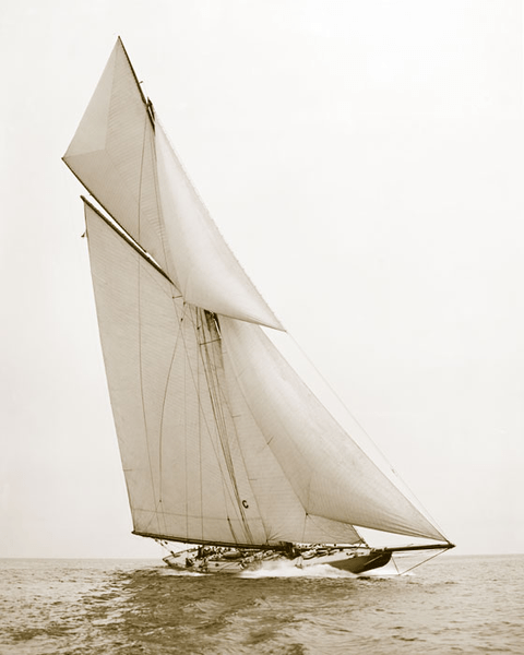 Poster Yacht Independence 1901, 50x70cm