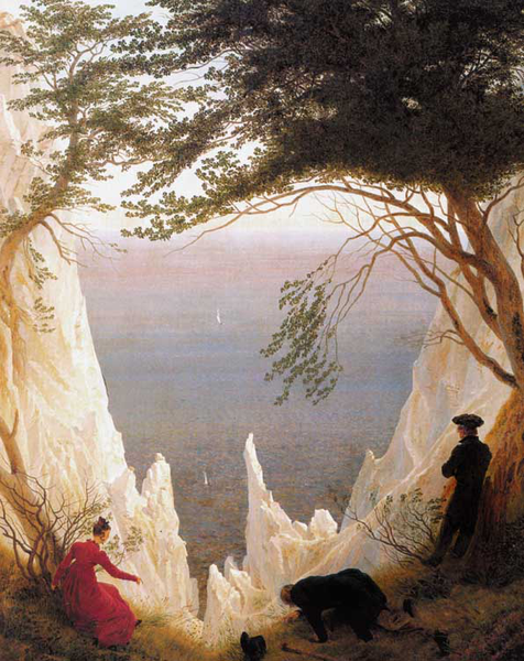 Chalk Cliffs on Rugen,Caspar David Friedrich,50x40cm