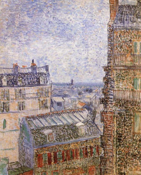 Paris seen from Vincent-s Room In In In the Rue Lepic,Vincent Van Gogh 6a7766