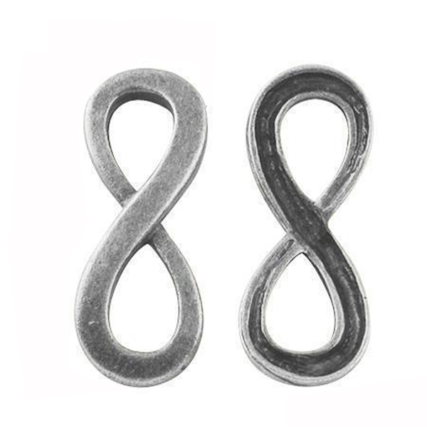 Connector infinity-symbol antik silver 20-pack