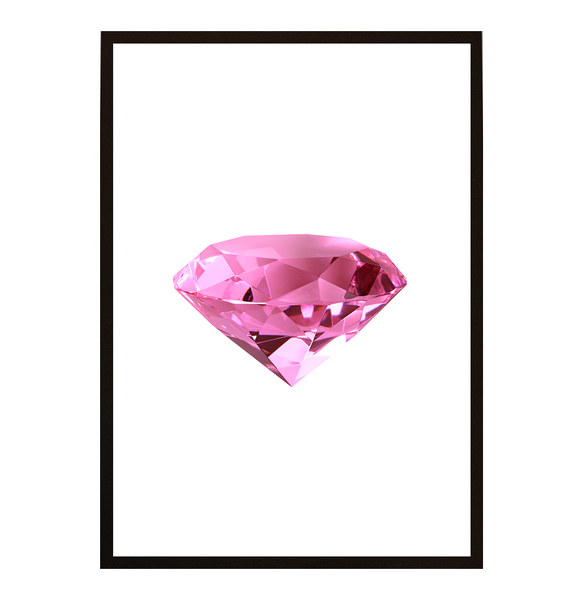 Poster - Diamant rosa Kristall A3 30x40cm