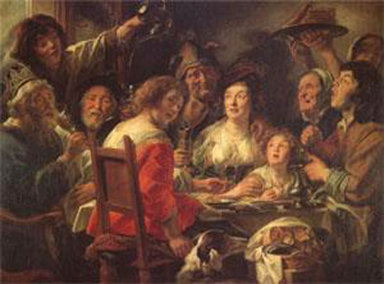 The King Drinks Celebration of of of the Feast,JORDAENS Jacob dab7b6