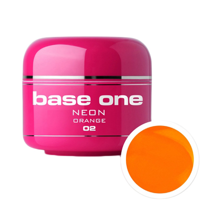 Base one – uv gel – neon – orange – 02 – 5 gram