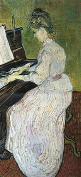 Marguerite Gachet at the Piano,Vincent Piano,Vincent Piano,Vincent Van Gogh,80x40cm f1e818