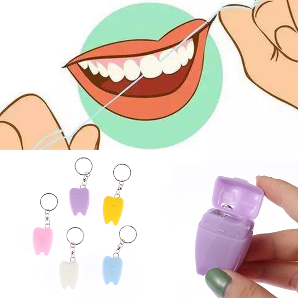 Random color portable dental floss teeth clean toothpick nylon